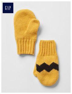 Peanuts Instaria Chevron Knitted Statement Mitts ~ Size S//M Gap Kids