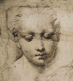 Madonna and Child drawing (detail), Raphael