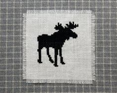 Moose cross stitch pattern