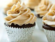 Chocolate Stout Cupcakes with Vanilla Bean Frosting Recipe from Betty Crocker