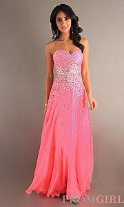 Full Length Strapless Sweetheart Dress