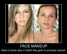 Now You Know Why You Didn't Like Girl In Primary #School #makeup #beauty