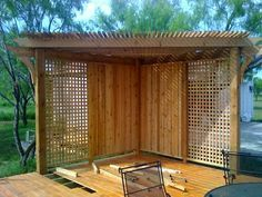 corner pergola ideas - Google Search