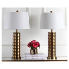 Linus Brass Column Table Lamp (Set of 2) - Safavieh® : Target