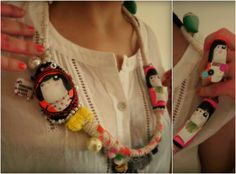 urban mexican necklace by 'Há Monstros Debaixo da Cama' You can order worldwide!  Email us: porta.dezasseis@gmail.com
