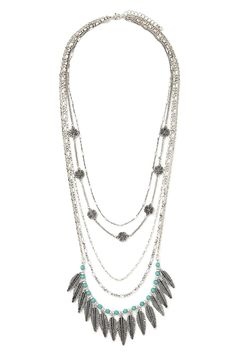 Layered Feather Necklace #accessorize