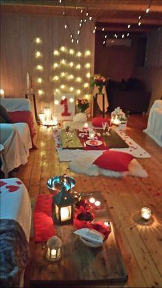 Romantic dinner /settup inspiration/basement romantic dinner idea