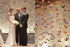 www.facebook.com/OrigamiDecoLourdes Origami grullas decoracion para fiestas