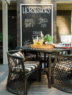 The experts at HGTV.com show how to make a DIY oversized outdoor chalkboard for…