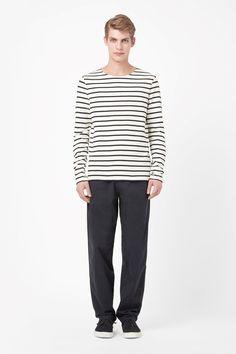 COS | Striped sweatshirt