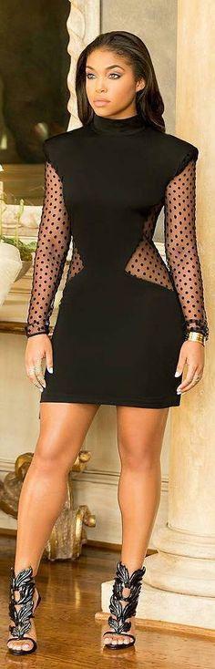 All Black Fashion By Lori Harvey