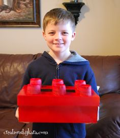 Lego Valentine box for boys to store classroom valentines