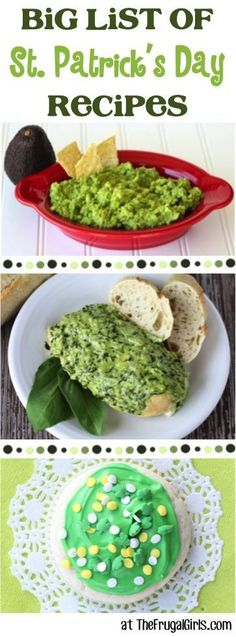 St. Patrick's Day Recipes - HUGE list of fun St Patricks Day Food! ~ from http://TheFrugalGirls.com ~ Go green all day long! #recipe #thefrugalgirls