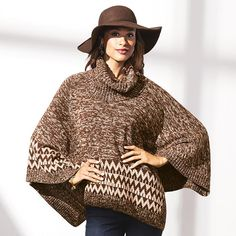 """Rock the hippie-chic look to the hilt in this scene-stealing poncho. With ribbed neck and buttons on the left shoulder to wear open or closed, the poncho is having a major fashion moment.· 60% Cotton, 40% Acrylic· Length from neck seam to edge: 28"""" (S/M); 30"""" (1X/2X)· Shop online at https://kmodlin.avonrepresentative.com/"""