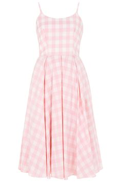 Priscilla Pink Gingham Midi Dress - Goodness, I NEED this in my life.