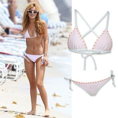 Offset a short torso by lengthening your legs. Your best bet? A high-cut string bikini bottom, like Bella Thorne's. Shop the style: Surf Bazaar, $106 (top) and $102 (bottom); thesurfbazaar.com