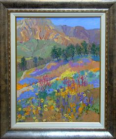 """Kathleen Elsey b. 1949, """"Mountain Meadow,"""" oil on canvas, 30 x 24 ins.  For more information on this painting, call Kamp Gallery at 847-441-7999"""