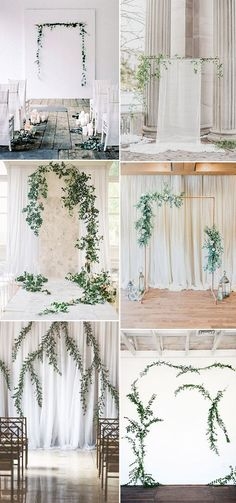 simple organic vine modern wedding ceremony backdrop ideas wedding backdrop Simple & Chic Organic Minimalist Weddings Ideas for Non-Traditional Brides Wedding Ceremony Ideas, Church Wedding Decorations, Engagement Decorations, Decor Wedding, Budget Wedding, Wedding Themes, Wedding Aisles, Wedding Ceremonies, Outdoor Ceremony