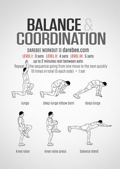 Yoga For Beginners : Balance And Coordination Workout. - All Fitness Parkour Workout, Mma Workout, Gym Workout Tips, At Home Workouts, Workout Fitness, Pre Workout Stretches, Sprint Workout, Workout Board, Workout Belt