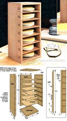 Sanding Disk Storage - Sanding Tips, Jigs and Techniques | WoodArchivist.com