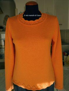 Very nice!    Il mio mondo di lana e.....: Maglietta salmone