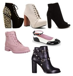 """""""shoes"""" by viih-ribeiro-oliveira on Polyvore featuring Jeffrey Campbell, Timberland, Qupid and Valentino"""