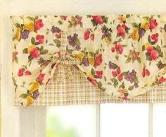 Kitchen Valance 8 Years Ago I Put These Up To Replace The Plain Green From Previous Owners Small Tension Rod Various Dishtowe Pinteres