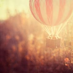 Hot Air Balloon Photograph   Anything is possible