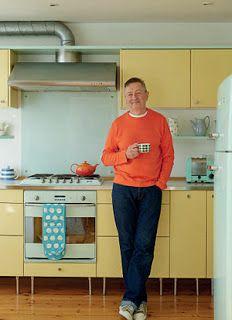Geoff stands in his bright Sønderborg Køkkenet kitchen fitted by Danish Design, Churchtown, Scandinavian Fashion, Scandinavian Modern, Irish Design, Mad Men Fashion, Magazine Images, Modern Spaces, Vintage Travel Posters, Mid Century Design, Glamour