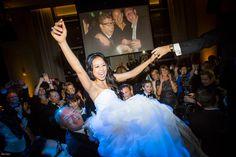The Hora!  Four Seasons Toronto Wedding.  Photo by Ikonica.