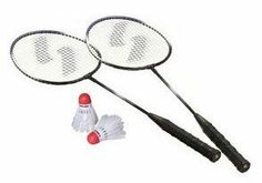 Sportcraft 2 Player Badminton Set by Sportcraft. $7.99. This two player Badminton Racket Set from Sportcraft allows badminton fun with or without a net. This set includes two weather resistant hi-performance badminton rackets with tempered steel shafts and heat treated T-connectors and grommets. These rackets are produced with soft-touch wood handles with wrapped no slip grips to comfortably keep your hand in proper position while playing. A pair of shuttlecoc... Badminton Racket, Tennis Racket, Babolat Tennis, Racquet Sports, Rackets, Touch, Steel