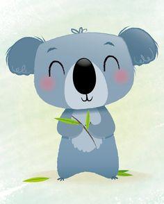 Nursery print koala print kids illustration by IreneGoughPrints Baby Boy Nursery Decor, Bear Nursery, Boy Decor, Animal Nursery, Nursery Prints, Nursery Wall Art, Polar Bear Illustration, Illustration Kids, Image Deco