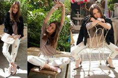 Zara Fur Coat, Zara Boyfriend Jeans, Zara Stripped T Shirt, Zara Soft Pink Booties - Madrid's coziest backyard - Marta Carriedo