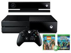 Console Xbox One 500 com Controle e Kinect - 2 Jogos Via Download - Microsoft