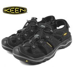87f53daacbfa New KEEN Mens Rialto Black Athletic Outdoor Water Slip On Sport Sandals Size  10