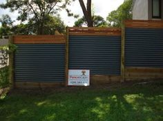 Image result for colorbond and timber fence
