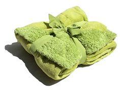 "Sherpa Throw Cozy Reversible Lined Blanket 50 x 60"" Microplush/Sherpa Throw Blanket (Green) Sherpa http://www.amazon.com/dp/B00MYGLND6/ref=cm_sw_r_pi_dp_Eupfub0P5VEDQ"