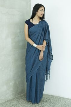 Denim Shaded Saree from Fashionmarket.lk