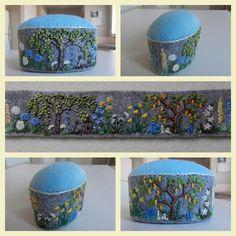 Woodland garden Pin Cushion.