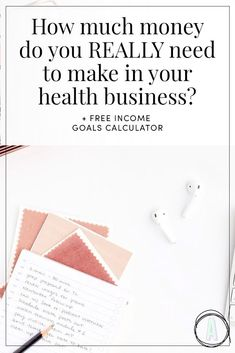 Big question for you, and one that 99% of wellness entrepreneurs can't answer: how much money do you really need to make in your business? Why can't most people answer this? Because very few know their important business numbers, and we're going to talk about this today because it's the basis for ALL your goal setting, business development, and marketing efforts you'll do over the next year. #HealthBusiness #WellnessBusiness #BusinessIncome
