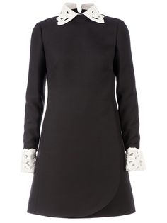 VALENTINO Cut-Out Collar Dress. New in at farfetch.com