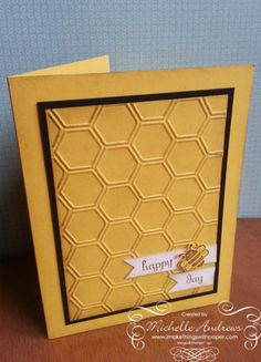"""HappyBeeDay-- Keep same background and same off center arrangement, but put """"Hap (larger bee picture) Day."""