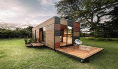 Cette petite maison, livrée en kit se monte et se démonte très facilement