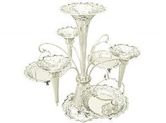 'Sterling Silver Epergne/ Centerpiece' - For similar, impressive sterling silver examples, visit http://www.acsilver.co.uk/shop/pc/Centrepieces-c85.htm
