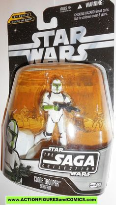star wars action figures CLONE TROOPER SERGEANT GREEN saga 2006 060 moc