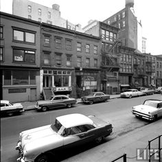Tenth Street, NYC 1958. Maintenance/restoration of old/vintage vehicles: the material for new cogs/casters/gears/pads could be cast polyamide which I (Cast polyamide) can produce. My contact: tatjana.alic@windowslive.com