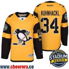 0a7710acc Men s Pittsburgh Penguins Chris Kunitz Yellow 2017 Stadium Series Stitched NHL  Reebok Hockey Jersey on sale for Cheap
