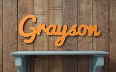 Grayson Wooden baby name sign nursery wall art by lucysletters123