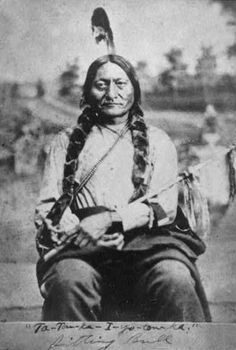 Chief Sitting Bull  (Tatanka Iyotanka), an important historical leader of the Hunkpapa band of Lakota Sioux Indians.