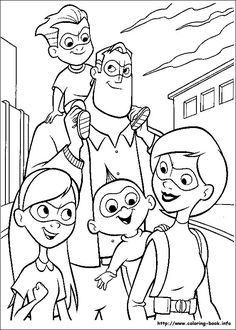 Incredibles Coloring Page For The Movie Superhelden Malvorlagen Fur Madchen Disney